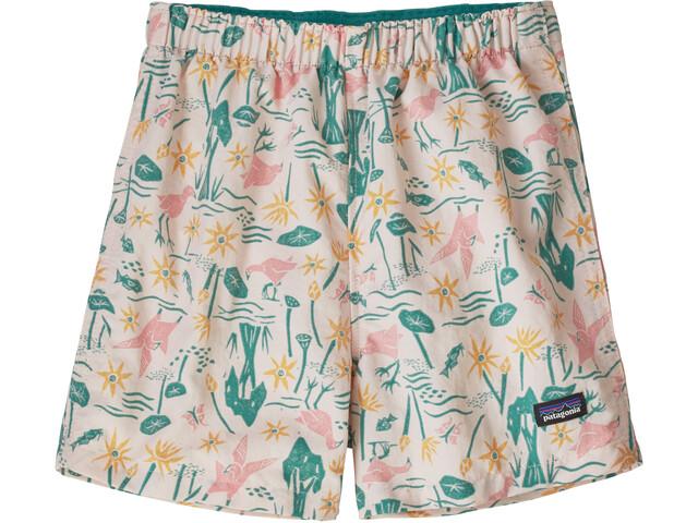 Patagonia Baggies Shorts Kids birds in the lotus/prima pink